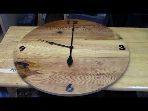 How to make a 30'' wood wall clock