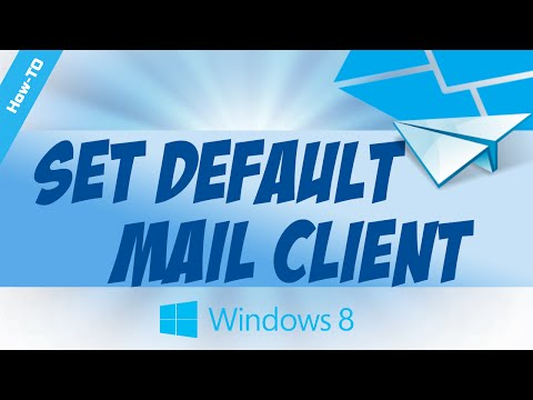 How to set default email client in Microsoft's new Windows 8 Operating System