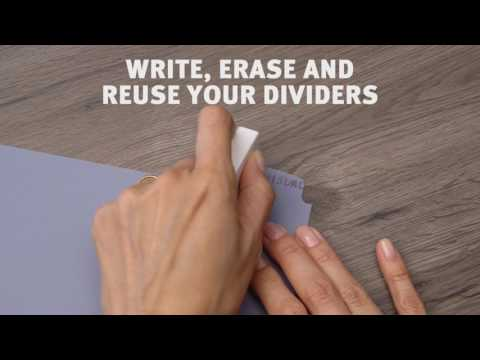 Avery Write & Erase Durable Plastic Dividers