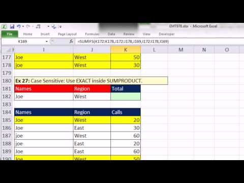 SUMIFS Function: Adding with Criteria 36 Examples & SUMIF function, Excel Magic Trick 978