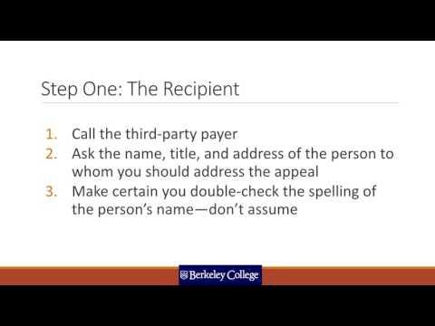 Reimbursement Appeal Letters