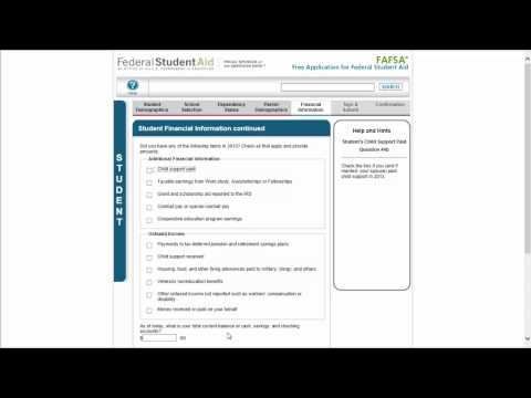 FAFSA walkthrough part 7: Student financial information