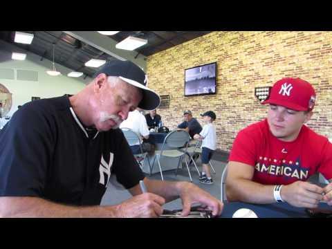 Goose Gossage NY Yankees Legend signing autographs and talking baseball