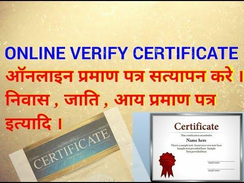 online verify certificate (Part 1)