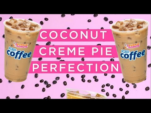 HOW TO MAKE DUNKIN DONUTS COCONUT CREME PIE ICED COFFEE!