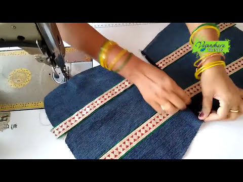 How To Make Handbag with Waste Jeans Cloth || Handbag Making At Home || How To Create Handbag