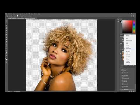 Photoshop Refine Edge Tutorial   Photoshop CC 2017