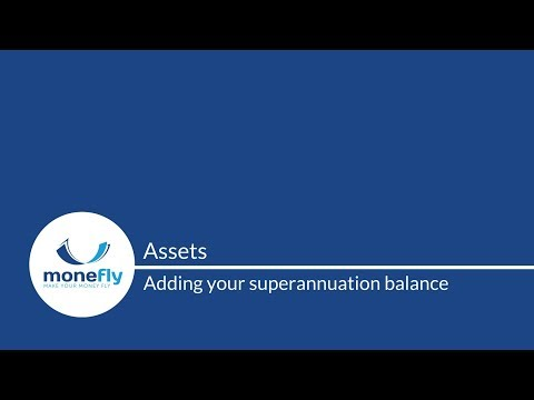 Monefly Assets: how to add your superannuation balance
