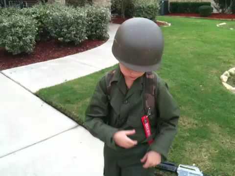 Josh's WWII paratrooper costume