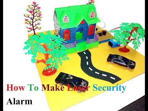 How To Make Laser Security Alarm System|| Working Model ||School  Project