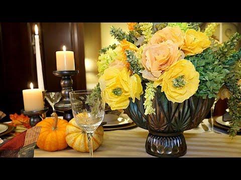 Thanksgiving Coffee Filter Floral Arrangements