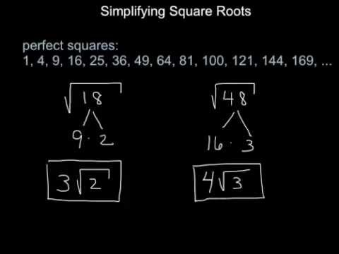 Geometry:  How to Simplify Square Roots