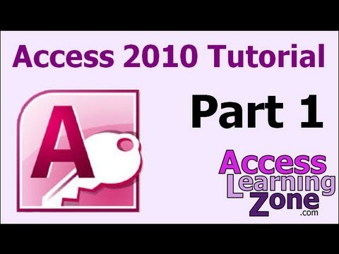 Microsoft Access 2010 Tutorial Part 01 of 12 - Database Terminology