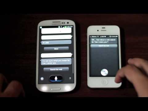 Siri on iOS 6 vs. S-Voice