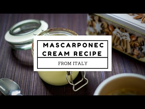 Mascarpone cream recipe from Italy for Christmas