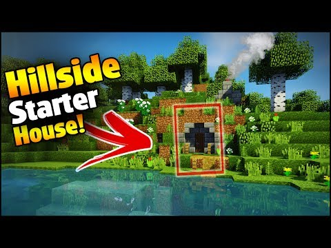 Minecraft: Hillside Starter House Tutorial - How to Build a House in Minecraft