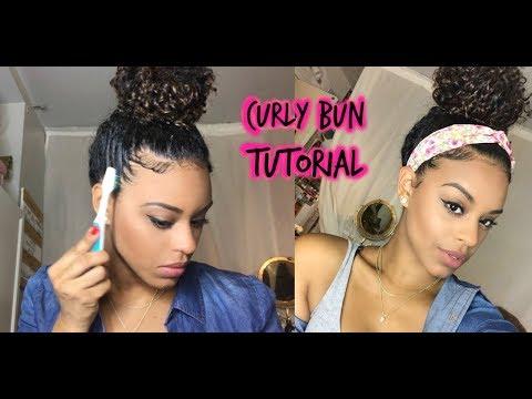 ChellisCurls | Curly Bun Tutorial