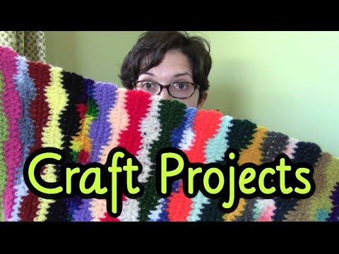 January 2018 Craft Projects ~ Scarves and Scarves and Scarves