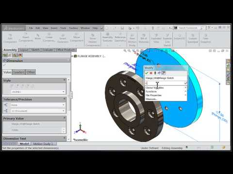 SolidWorks Tutorial: Linking Component Dimensions to Assembly Level Global Variables
