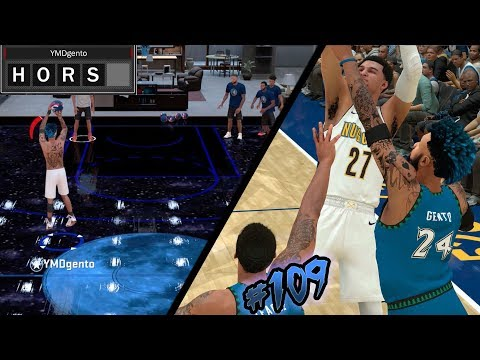 NBA 2k18 MyCAREER S2 - Playing HORSE w/ My New Team! Contested Double Teamed Buzzer Beater! Ep. 109