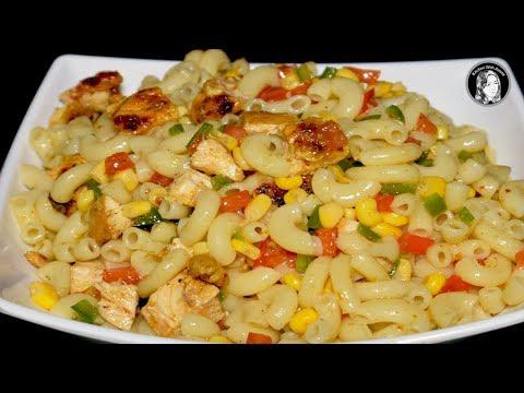 Chicken Macaroni Salad - How to make Chicken Macaroni Salad by Kitchen With Amna