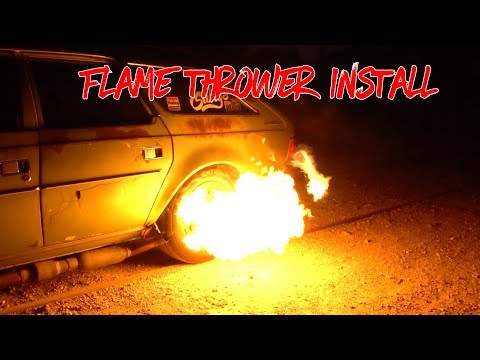How to make your own exhaust flame thrower kit -