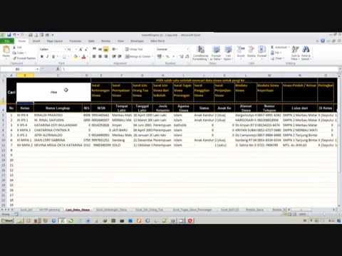 SearchEngine dengan Formula Excel