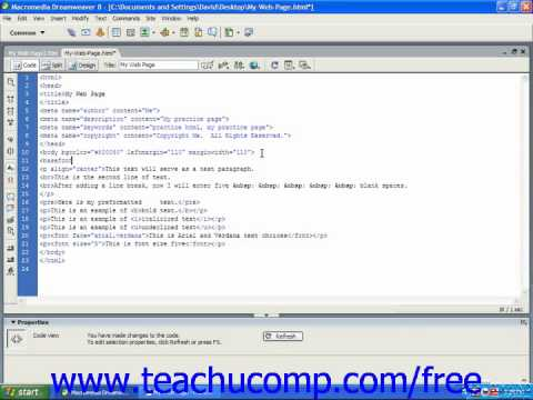 HTML Tutorial Changing Font Size for the Entire Page Training Lesson 4.6