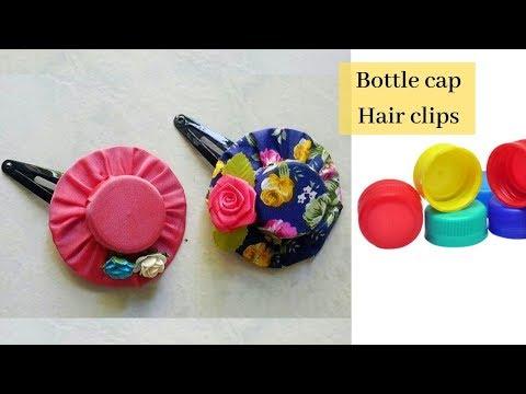Best use of bottle cap /DIY hair clip for kids