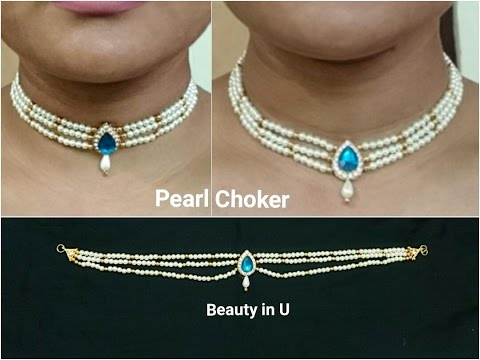 DIY | Bridal Necklace | Making of Pearl Choker at Home | Tutorial