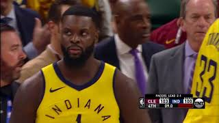 Lance Stephenson wrestles with Jeff Green with 9 seconds left to play (Game 4)