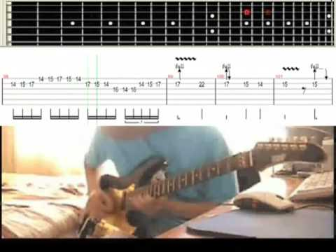'Canon Rock' Slow Motion - Video Tab Guitar Lesson (75% Tempo)