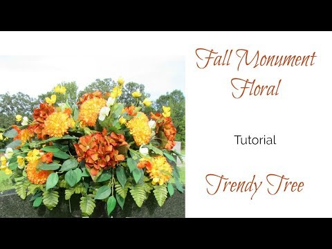 2017 Fall Monument Floral Tutorial by Trendy Tree