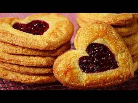 Raspberry Butter Cookies Recipe Demonstration - Joyofbaking.com