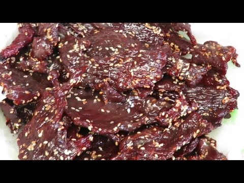 Lao sweet beef jerky made right