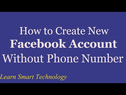 How to Create New Facebook Account Without Phone Number And Email