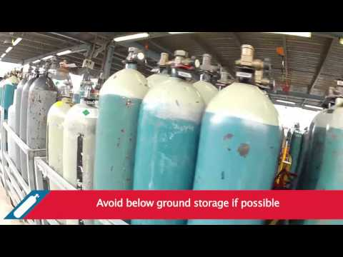 BOC - How to store gas cylinders safely
