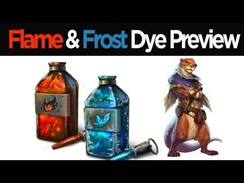 Guild Wars 2 - Flame & Frost Dye Kit Preview