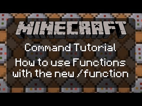 Using Commands in Minecraft:  How to use the new /function command in Minecraft | 1.12 [Tutorial]