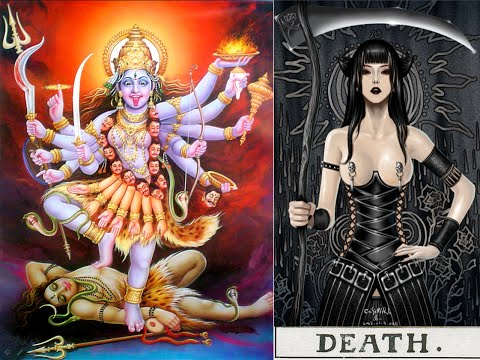 Om Krim Kali - Goddess Kali vs Death Tarot - Mantra Chant + Music