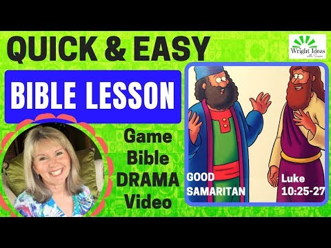 How to plan a QUICK & EASY Bible Lesson (The Good Samaritan) CREATIVE CHILDREN'S MINISTRY IDEAS
