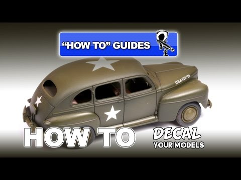 HOW TO GUIDE: APPLY DECALS TO YOUR MODELS - Modelling Video