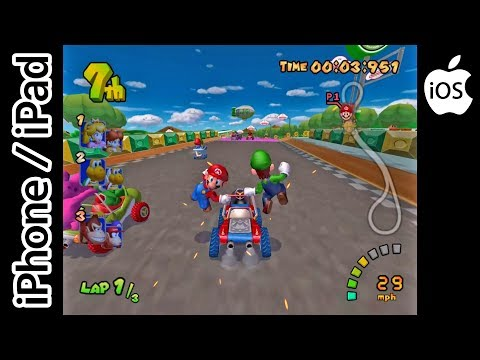 Mario Kart: Double Dash!! | Dolphin Emulator Streamed via Moonlight | iPhone / iPad / iOS | GameCube