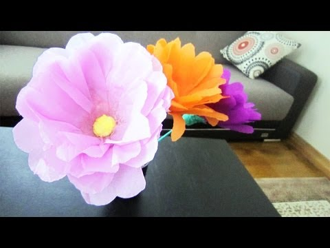 How to make giant flowers using plastic bottles  - Recycling - EP - simplekidscrafts