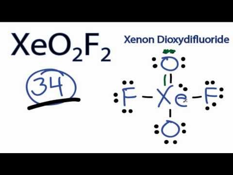 XeO2F2 Lewis Structure - How to Draw the Lewis Structure for XeO2F2