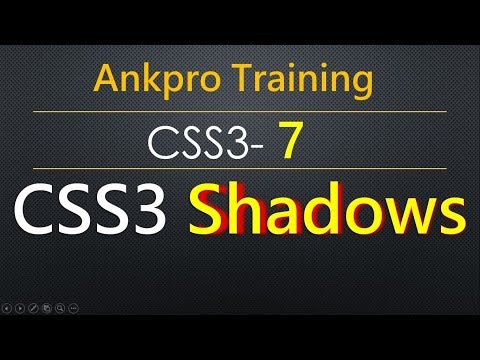 CSS3 7 - CSS Shadows | CSS box-shadow | CSS text-shadow | How to apply shadow around text & elements