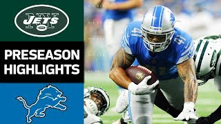 Jets vs. Lions | NFL Preseason Week 2 Game Highlights