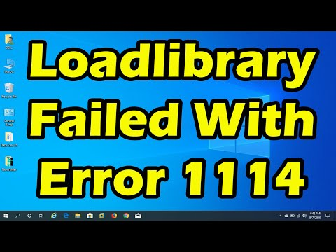 LoadLibrary failed with error 1114 [Game Problem Solved]