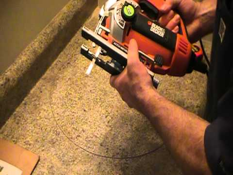 How to cut out a countertop for a basin ot sink. Plumbing Tips