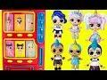 LOL SURPRISE Vending Machine Surprise Toys With Punk Boi Big Brother Big Sister Unicorn